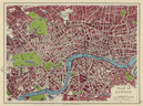 LONDON CITY PLAN West End Pimlico Southwark Islington Lambeth. JOHNSTON 1910 map